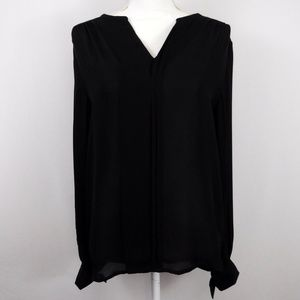 Antonio Melani Black Silk Top Blouse Size Small